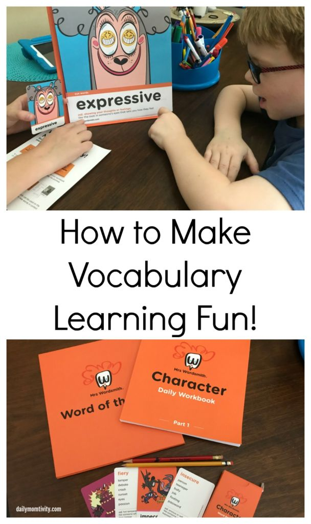 Make vocabulary learning fun with Mrs Wordsmith! Kids will love this vocabulary program that is simple to use and it will help boost their vocabulary.