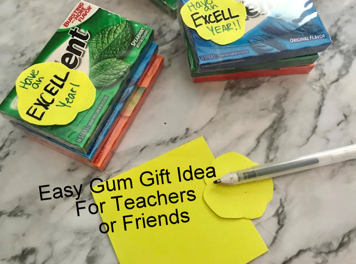 gum gift idea for teachers or friends using trident gum
