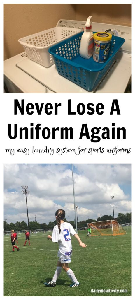 Never Lose a Uniform Again, My Laundry System for all Sports Uniforms