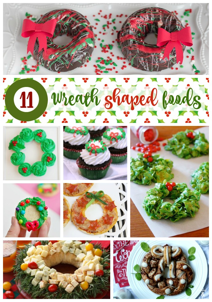 11 CHRISTMAS WREATH SHAPED FOODS