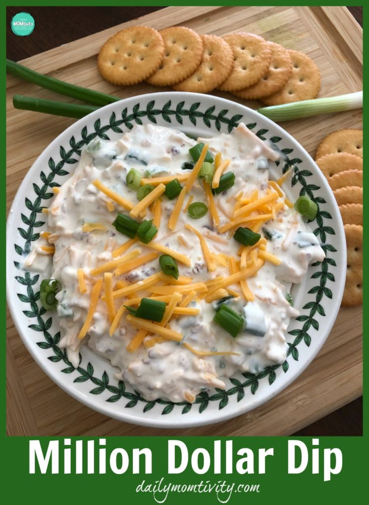 Need a good dip for you next party? Make this million dollar dip! It's easy and so tasty!!