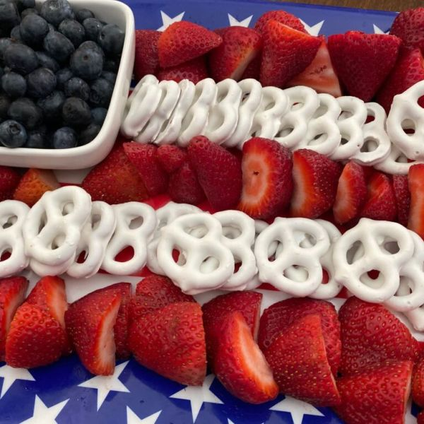 American Flag Fruit Tray