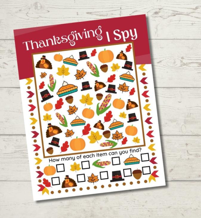 Thanksgiving I Spy Printable