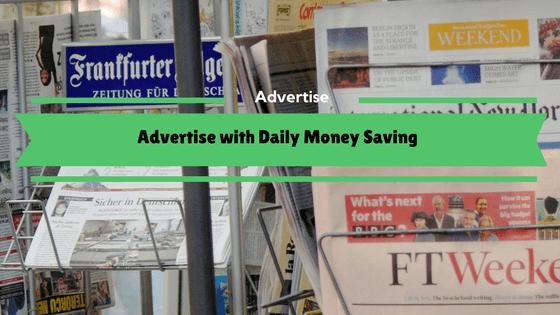 Advertise on DailyMoneySaving