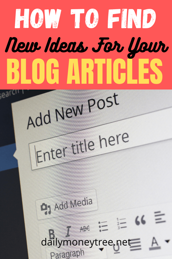 New Ideas For Your Blog Articles