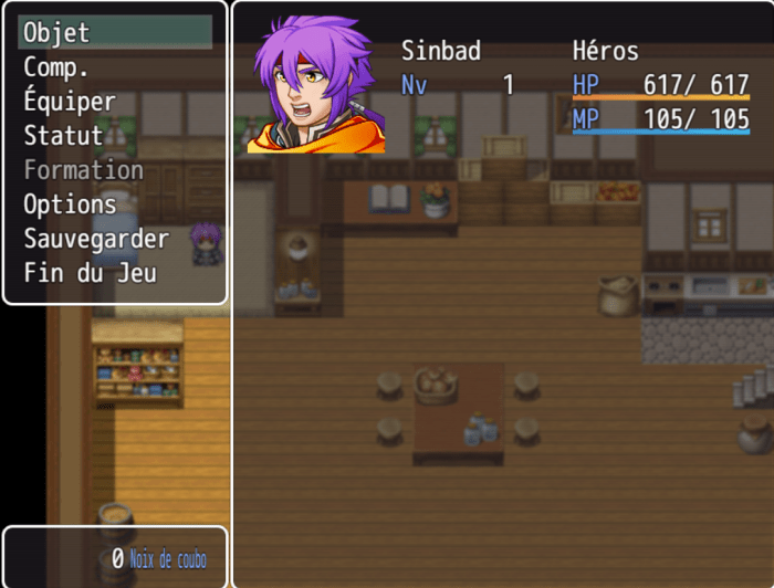 Sinbad Menu RPG