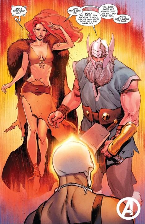 Ghost Rider Odin Borson Lady Phoenix