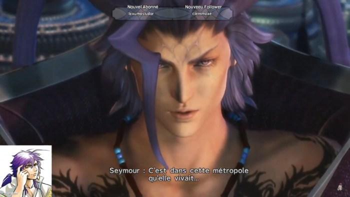 Seymour qui explique Zanarkand aux héros à GuadoSalam - Final Fantasy X
