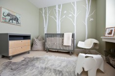 Complete-Baby-Nursery-Furniture-Packages-with-Cool-Modern-Nursery-Ideas-Gender-Neutral-and-Tree-Wall-Murals-With-Beige-Color