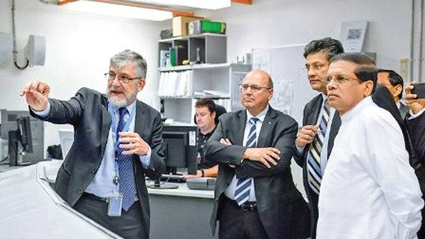 President Maithripala Sirisena visited Australia's nuclear agency, the Australian Nuclear Science and Technology Organization (ANSTO), on an inspection tour to see its advanced research on utilization of nuclear science for disease diagnosis and medication. President Sirisena also met with Australian Prime Minister Malcolm Turnbull on the second day of his three-day state visit to Australia and, following bilateral talks, three agreements were inked between the two countries.