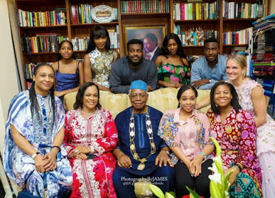Awww! Agbani Darego appears in a family photo with her in-laws — The Danjumas