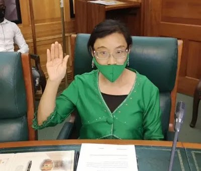 Chinese woman becomes member of South Africa's parliament