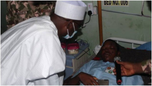 God will reward your sacrifices – Ndume to wounded soldiers