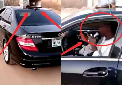 Reactions as Mercedes-Benz C300 is been used for hawking in Kaduna [photos]