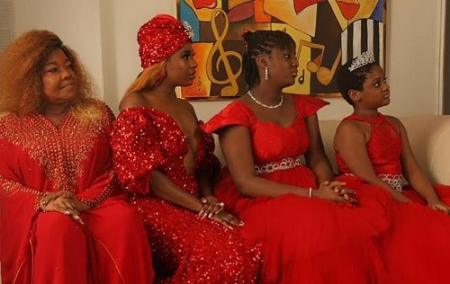 "Annie Idibia, Mom and Daughters also pose for their ""3 Generations"" photos"
