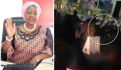 Buhari's aide, Lauretta Onochie hails police, says nobody was hurt at #Lekkitollgate protest