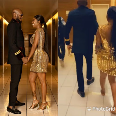 Moment Tuface stole the show at the 14th Headies awards with Annie Idibia's shoes [photos]