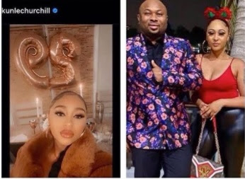 Tonto Dikeh's ex-husband, Olakunle Churchill introduces Rosy Meurer as his wife