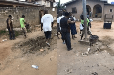 Photos: Mob ties teenager to electric pole for allegedly stealing mother's cooking utensil
