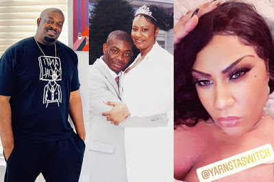 Don Jazzy's ex, Michelle discloses why she was taller than him in their wedding photo