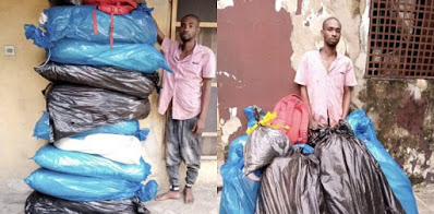 Most wanted drug supplier busted with 100kg of cocaine, cannabis in Abia [photos]