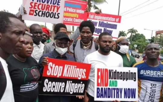 Falana, Falz lead protest in Ikeja against insecurity, poverty