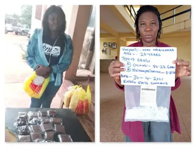 NDLEA arrests 2 women in Jos, Nsukka for cannabis cake, cocaine