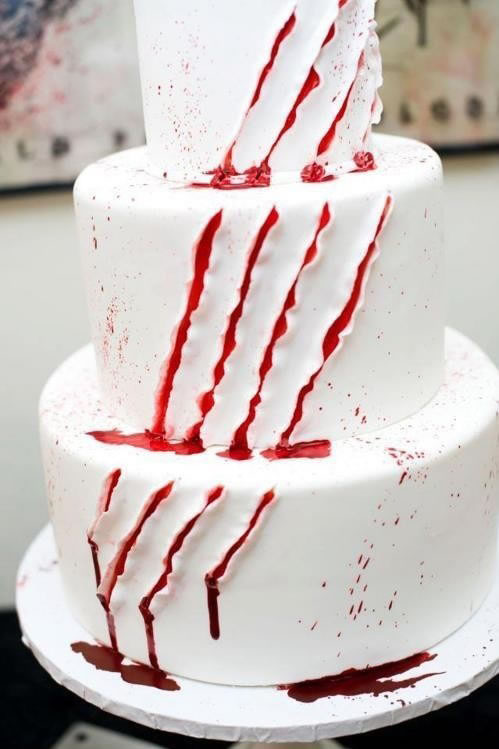 Deeply Wounded Halloween Cake