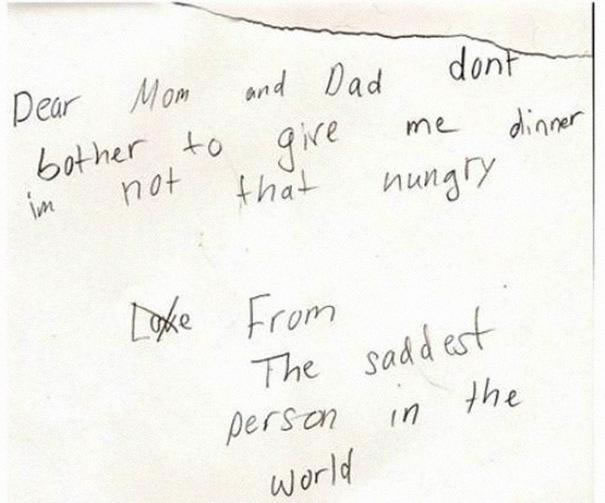 39 Funny Messages Left By Kids On Paper Notepads