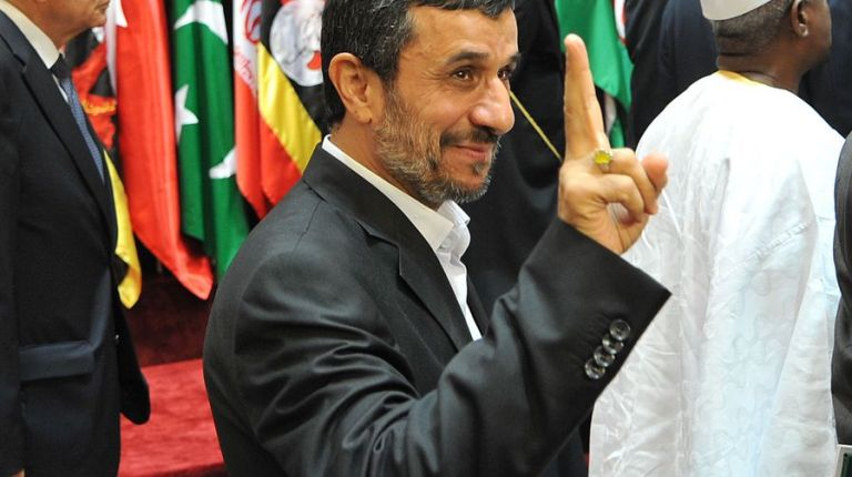 Iranian President Mahmoud Ahmadinejad, pictured here flahes at the summit of the Organisation of the Islamic Conference in Mecca, attended the unveiling of the upgraded missile systems AFP PHOTO / FAYEZ NURELDINE