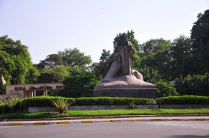 Mokhtar's Egypt's Renaissance statue currently placed in front of the Cairo University Bridge represents the nation's struggle against colonialism and its victory after independence Hassan Ibrahim / DNE