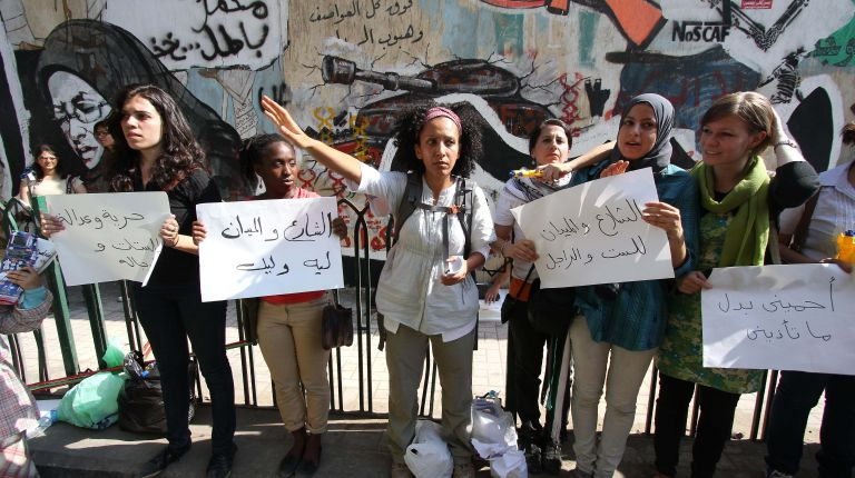 harassment incidents that took place on 25 January on the second anniversary of the revolution where at least 19 incidents were reported in one day (file photo) (AFP/GettyImages)