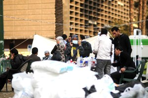 A medical station set up on Tahrir Square during clashes on Mohammed Mahmoud street in November 2011 Laurence Underhill / DNE