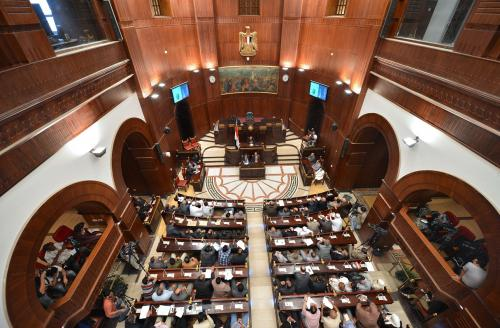 The Constituent Assembly holds a meeting (file photo) AFP Photo