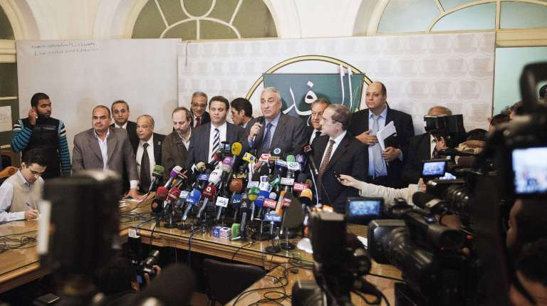 Egypt's main opposition coalition, the NSF, said it will boycott upcoming parliamentary elections due to a lack of guarantees of a transparent process. AFP Photo /Gianluigi Guercia)