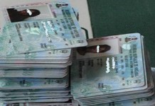 Stack of PVCs at INEC office