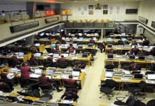 The floor of the Nigerian Stock Exchange