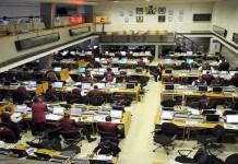 The floor of the Nigerian Stock Exchange