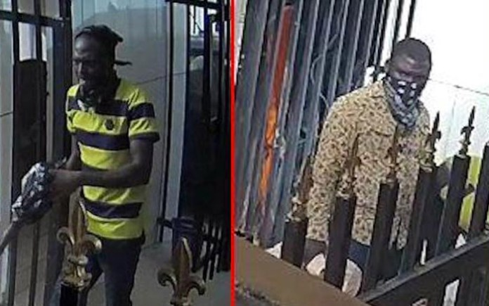 Some of the wanted Offa bank robbers in action