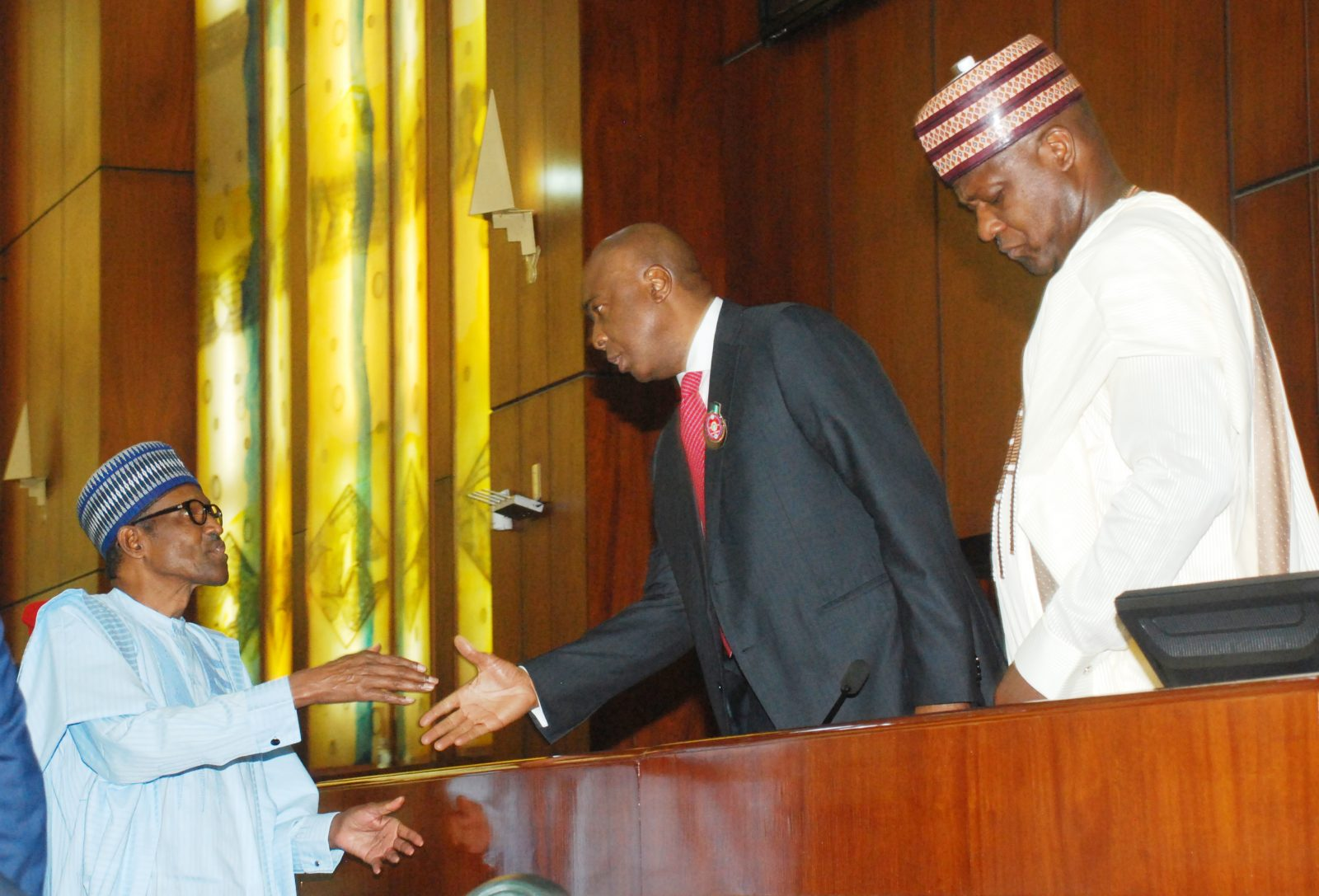 Image result for Buhari has received Budget 2018 - report