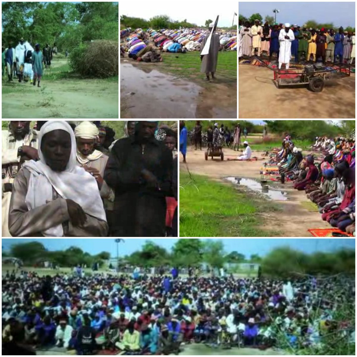 VIDEO: How Boko Haram terrorists observed Eid prayer in various locations of Sambisa forests
