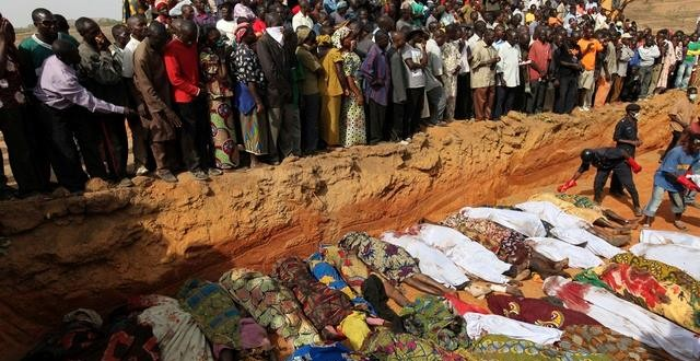 FILE PHOTO: Mass burial of victims of one of the violent clashes in Jos