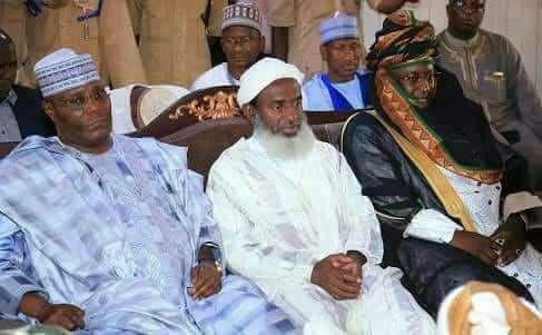 L-R: Former Vice President Atiku Abubakar, Sheikh Ahmad Mahmud Gumi and former governor Ramalan Yero.