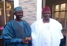 Salihu Sagir Takai with his new political leader, Senator Rabiu Musa Kwankwaso