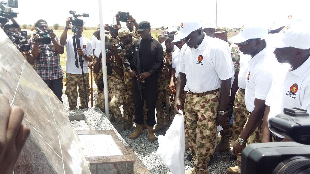 Buratai commissions cenotaph in Gudumbali, Borno State.