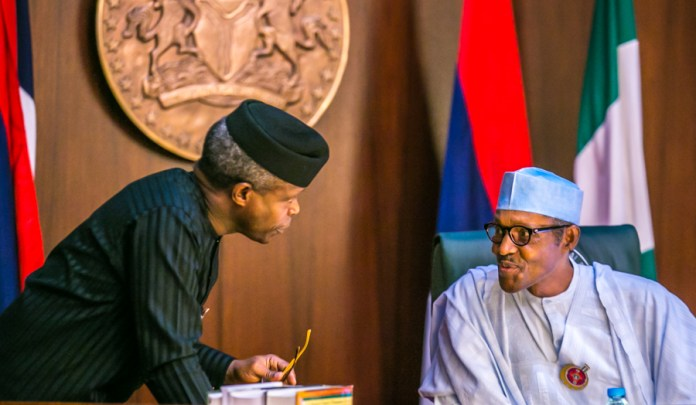 President Muhammadu Buhari (right) with Vice President Yemi Osinbajo.