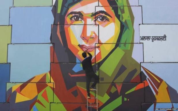 بھارتی حکومت کی بیٹی بچاو مہم ۔۔ پنجاب میں ملالہ یوسف زئی کی تصاویر لگادی گئیں