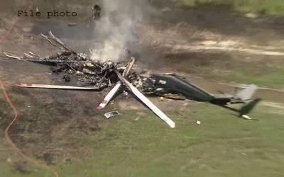 کوئٹہ، مغربی بائی پاس پر ہنگامی لینڈنگ کے دوران ہیلی کاپٹر گر گیا