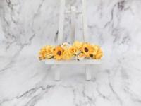 Yellow flower crown - wedding sunflower hair accessories ...