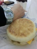 Sausage and Egg McMuffin for dinner